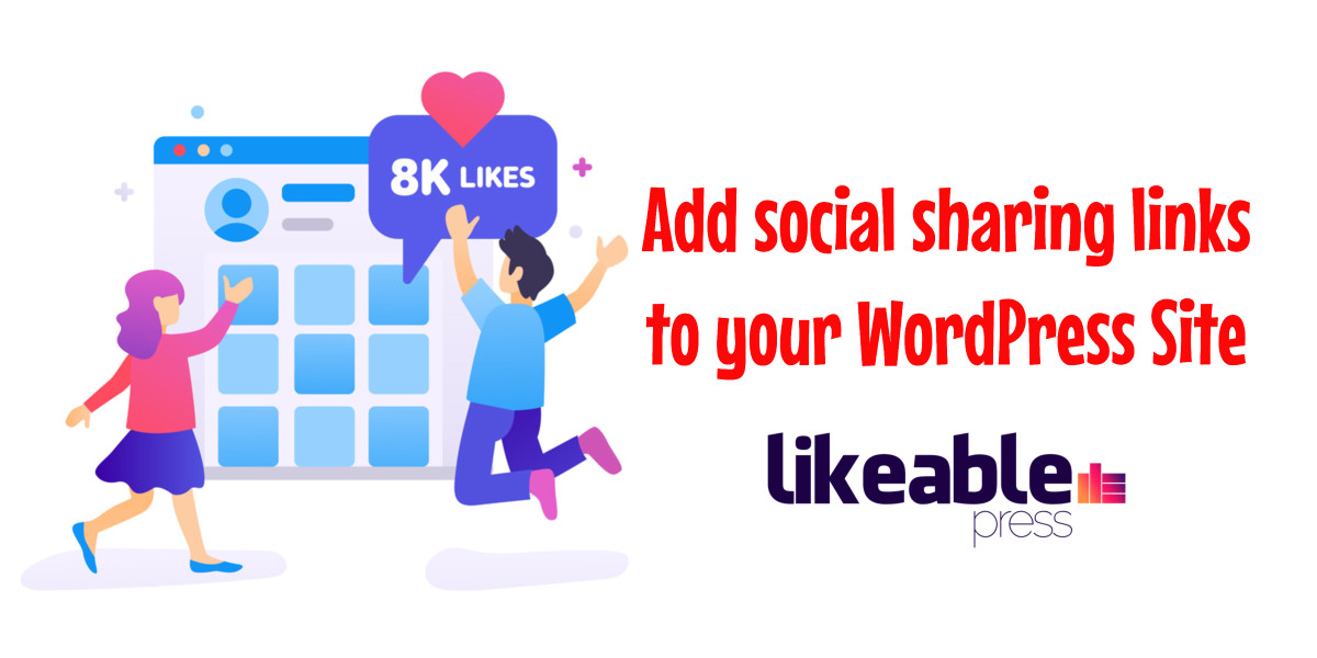 Add social sharing links to your WordPress Site